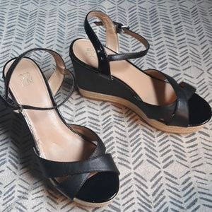 New York & Company Black Wedge